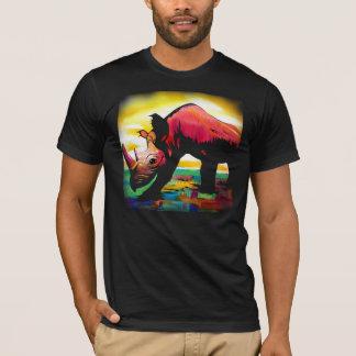 Rhinocéros de partie, papillon de partie t-shirt