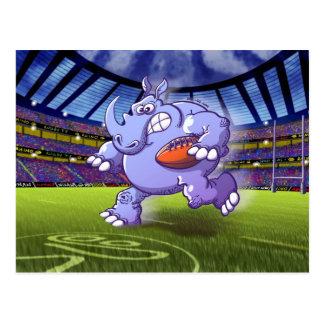Rhinocéros de rugby carte postale