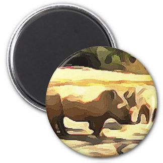 Rhinocéros de safari aimant