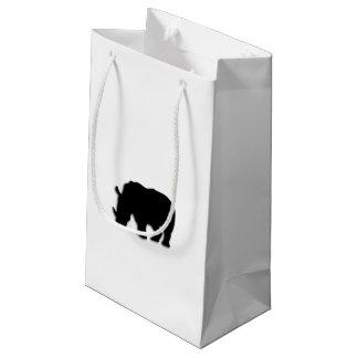 Rhinocéros noir petit sac cadeau