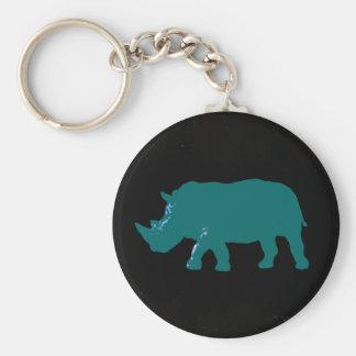 Rhinocéros Porte-clé Rond