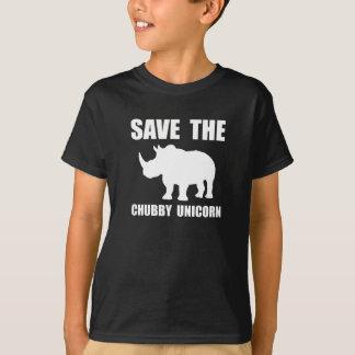 Rhinocéros potelé de licorne t-shirt