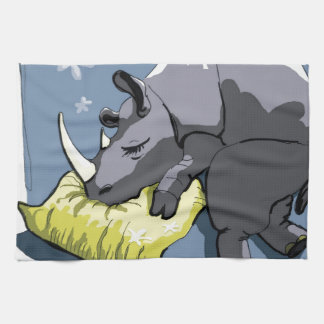 rhinoceros serviettes pour les mains