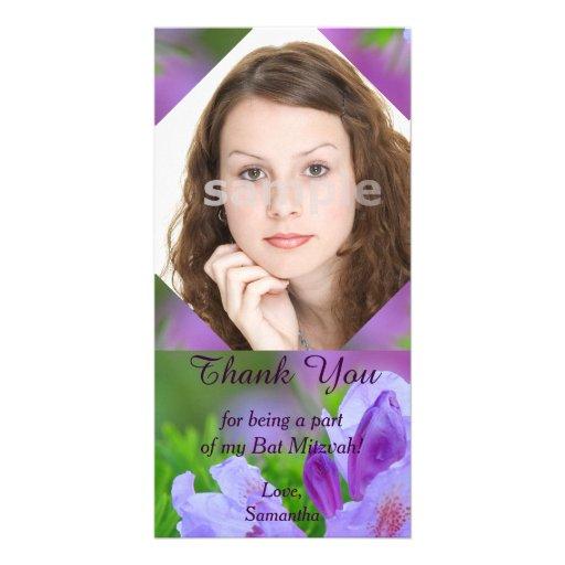 Rhododendron après le Merci de bat mitzvah de plui Photocarte Customisée