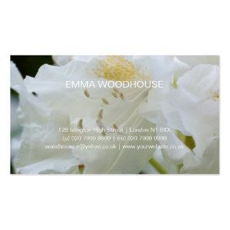 Rhododendron blanc du rhododendron | Weisse Cartes De Visite Professionnelles