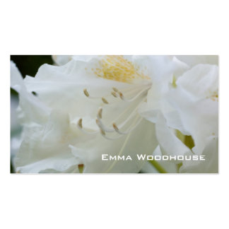 Rhododendron blanc du rhododendron | Weisse Carte De Visite