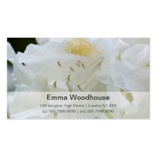 Rhododendron blanc du rhododendron | Weisse Cartes De Visite Personnelles