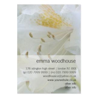 Rhododendron blanc du rhododendron   Weisse Cartes De Visite Personnelles