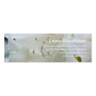 Rhododendron blanc du rhododendron | Weisse Modèles De Cartes De Visite