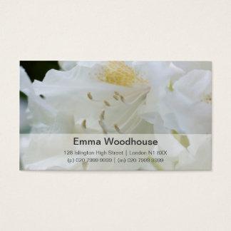 Rhododendron blanc du rhododendron | Weisse Cartes De Visite
