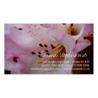 Rhododendron rose du rhododendron   Rosa Modèles De Cartes De Visite