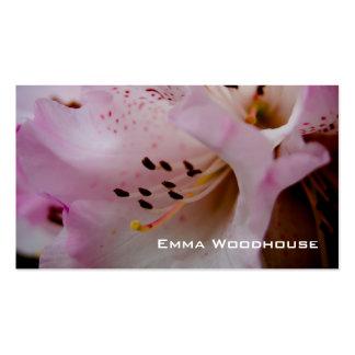 Rhododendron rose du rhododendron | Rosa Modèles De Cartes De Visite