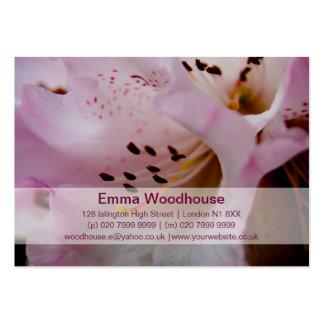 Rhododendron rose du rhododendron | Rosa Modèle De Carte De Visite