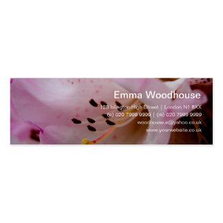 Rhododendron rose du rhododendron | Rosa Cartes De Visite Professionnelles