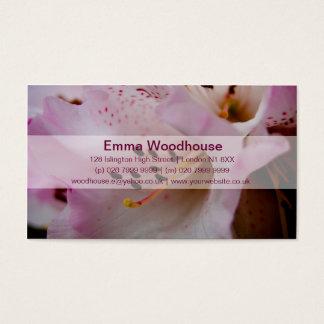 Rhododendron rose du rhododendron | Rosa Cartes De Visite