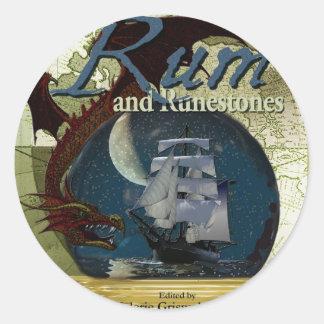 Rhum et produits de papier de Runestone Sticker Rond