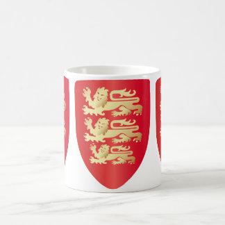 Richard le bouclier de coeur de lion en rouge+or mug