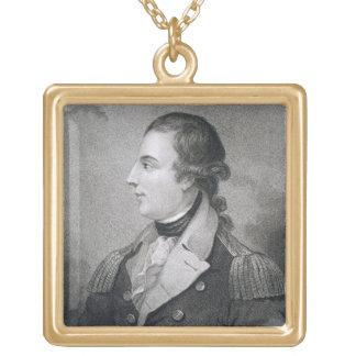 Richard Montgomery (1736-75) gravé par E. Macken Pendentif Carré