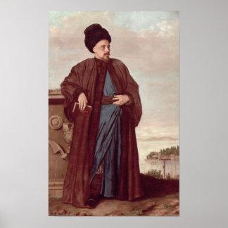 Richard Pococke dans le costume oriental, 1738 Poster