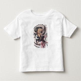 Richard Wagner dédoublant le tambour d'oreille du T-shirt Pour Les Tous Petits