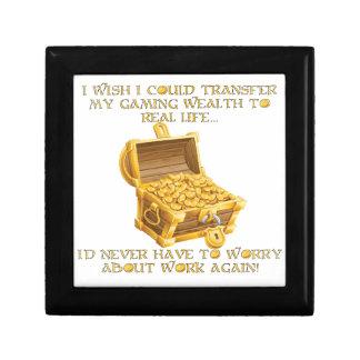 Richesse de jeu petite boîte à bijoux carrée