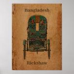 Rickshaw du Bangladesh de poster vintage