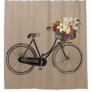 Rideau en douche à la mode de taupe de vélo de