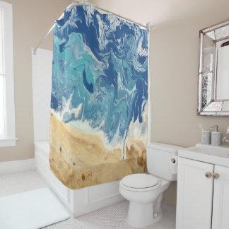 Rideau en douche abstrait de plage