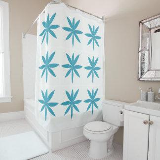 Rideau en douche blanc avec des conceptions