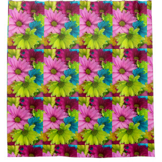 rideau en douche coloré à la mode de la fleur des