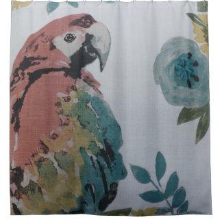 Rideau en douche coloré de perroquet