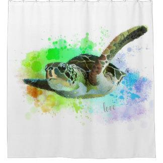 Rideau en douche d'amour de tortue de mer