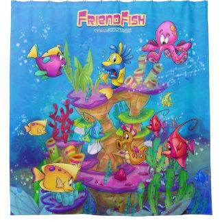 Rideau en douche de bande dessinée de FriendFish