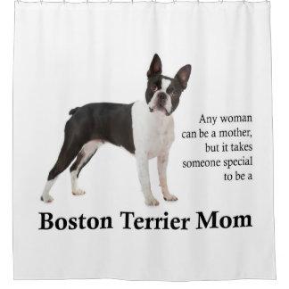 Rideau en douche de maman de Boston Terrier