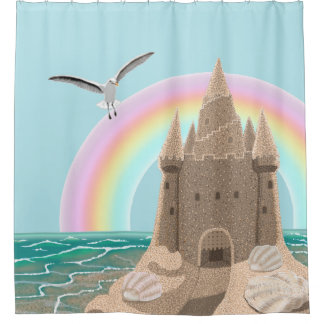Rideau en douche de mouette de pâté de sable