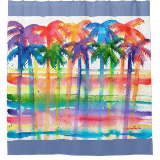 Rideau en douche de palmier