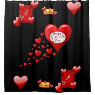 Rideau en douche de Saint-Valentin