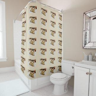 Rideau en douche de salle de bains d'écureuil