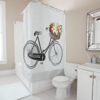 rideau en douche de vélo de fleur de bicyclette