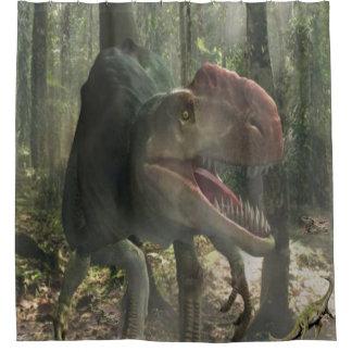 Rideau en douche du dinosaure des enfants
