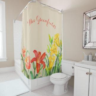Rideau en douche floral d'été fait sur commande de