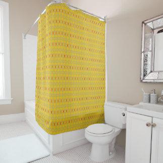 rideau en douche génial rouge de moutarde de barre