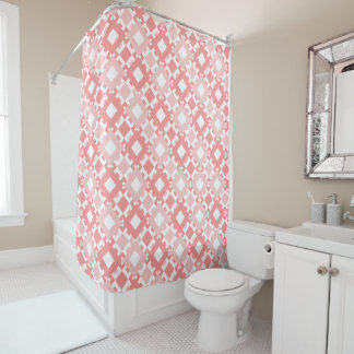 Rideau en douche géométrique de motif de rose en