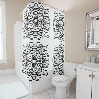 Rideau en douche moderne noir et blanc audacieux