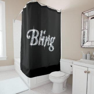 Rideau en douche noir de conception de Bling