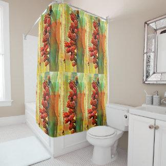 Rideau en douche peint de cactus de tuyau de