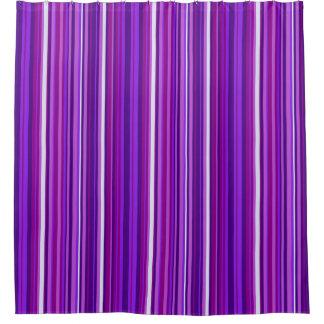 Rideau en douche rayé violet