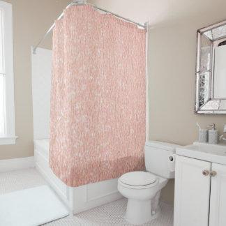 Rideau en douche rose d'or
