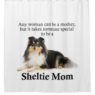 Rideau en douche tricolore de maman de Sheltie