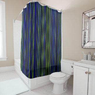 Rideau en douche vert-bleu de rétro chaux de